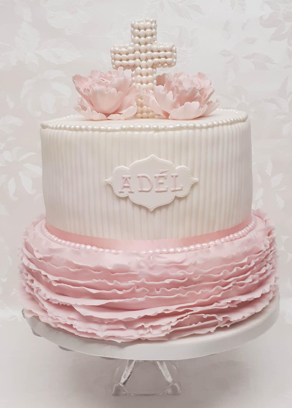 Taufe Mit Pfingstrosen Lucys Cakes